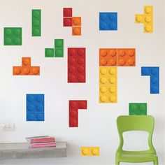 Lego Tetris Wall Decals Tetris Lego Wall Stickers by PrimeDecal