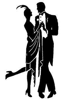 roaring 20s silhouettes clip art clipart it s a party rh pinterest com 1940s clip art 1940s clip art images