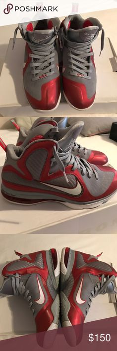 Nike Lebron 9 Ohio State 'Buckeyes' Men's size 9 Nike Lebron 9 Ohio State 'Buckeyes' in excellent condition Nike Shoes Sneakers