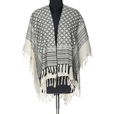Buy now! Poncho made in Cotton Jacquard @Rs.850/- specially designed to keep the body warm.