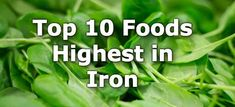 Foods high in iron include fortified cereals, beef, shellfish, dried fruit, beans, lentils, dark leafy greens, dark chocolate, quinoa, mushrooms, and squash seeds.
