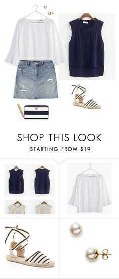 """""""ootd"""" by maomi ❤ liked on Polyvore featuring Madewell, Soludos, Kate Spade and Majorica"""