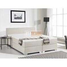 CARTAYA - Kontinentalseng 180x200 cm – Polstret seng - beige