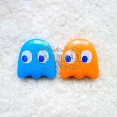 Fantasmitos azul y naranja,buhhhhhhh,que susto.