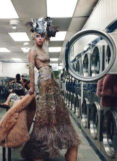 Lady Gaga.Annie Leibovitz.Vogue U.S.December 20115