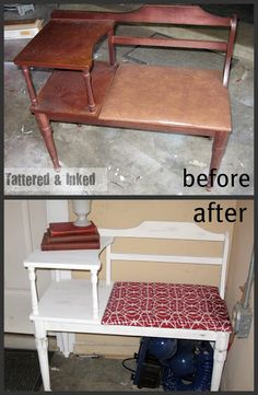 Telephone Table Makeover