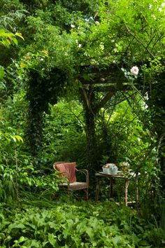 Not all gardens need to be obsessively maintained - letting some area become a bit overgrown lends magic and mystery...