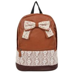 Sealike New Top Trendy Cute Korean Lace Backpack College Style Leisure Canvas Backpack Gilr's Lovely Bow Rucksack Vintage Floral Print School Bag Retro Sweet Fashionable Outdoor Backpack for Teens Students Women Ladies Girls (Brown) Sealike http://www.amazon.com/dp/B00M80YOR0/ref=cm_sw_r_pi_dp_rNfZub0YV8P5H