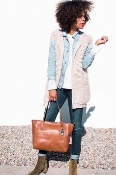 Wear with oversized scarf