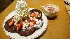 苦みと甘みの組み合わせが絶妙なEggs'n Thingsのスペシャルバレンタインパンケーキを食べてきた - ライブドアニュース