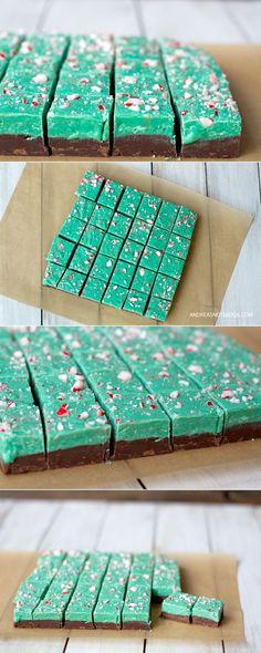 Chocolate Peppermint Fudge Recipe - on AndreasNotebook.com