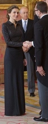 Don Felipe VI and Doña Letizia received the foreign diplomatic corps in Madrid. 21/1/2015