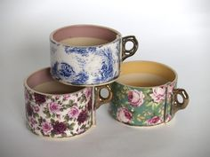I like these little 'inside out' mugs made by Virginia Graham.