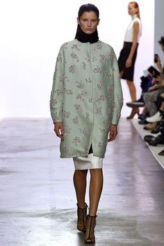 Giambattista Valli RTW Fall 2013. embroydered outerwear. 60s. mint. cocoon. #fall2013 #paris #GiambattistaValli