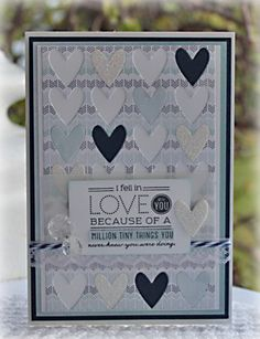 Love card using Papertrey Ink stamps and cover plate, and Studio Calico papers. www.papercraft-designs.blogspot.com