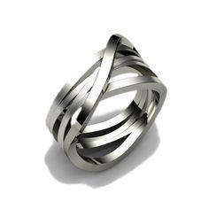 Sieraden ontwerpen - Witgouden ring in bijzonder ontwerp