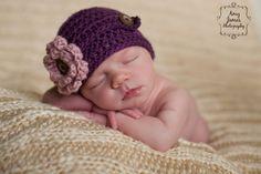 Baby Girl Crochet Newborn Hat Newsboy Style by chloescrochetcloset, $30.00