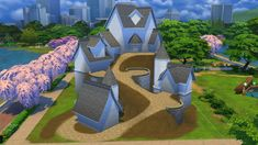 The Sims, Sims Cc, Sims 4 House Plans, Sims 4 House Design, Sims 4 Gameplay, Sims 4 Build, Sims 4 Houses, Medieval, Sims Ideas