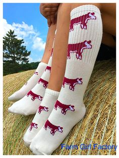 Hereford socks at Farm Girl Factory!