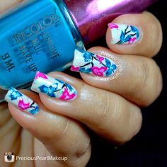preciouspearlmakeup: Spring Floral Nails with Tutorial