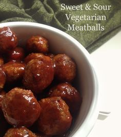 Sweet & Sour Vegetarian Meatballs