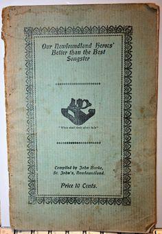 1917 WWI OUR NEWFOUNDLAND HEROES - NFLD REGIMENT BOOKLET BY JOHN BURKE - RARE | eBay Newfoundland And Labrador, Wwi, Booklet, Ebay