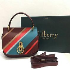 Mulberry Fall Winter 2017 Mulberry Small Amberley Satchel Multicolor  Diagonal Striped Leather 02 Satchel Multicolor 232c77e1e5882