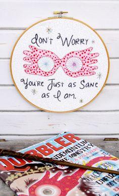 Luna Lovegood Embroidery Hoop Art