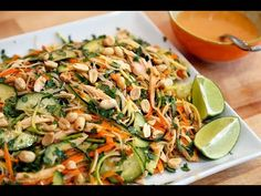 Thanksgiving Leftovers: Asian-Style Noodle Salad with Turkey, Veggies, Herbs, and Lime-Peanut Vinaigrette   Transform Your Thanksgiving Leftovers   Bay Area Bites   KQED Food