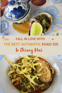 Khao Soi, the most famous dish of Chiang Mai, quickly became one of our favorite dishes in Chiang Mai. This northern Thai dish is a rich and spicy coconut milk based curry served with chicken or beef and two types of noodles.