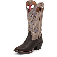 Tony Lama Womens Shiloh RR2016L Western BootBridle Brown8 B US -- You can find more details by visiting the image link.(This is an Amazon affiliate link and I receive a commission for the sales)