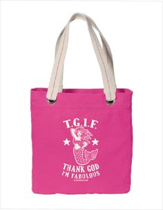 Thank God I'm Fabulous... Because you are.... and everyone should know it!  A fun bright colorful beach bag that is perfect for your beach days or just for your everyday needs.