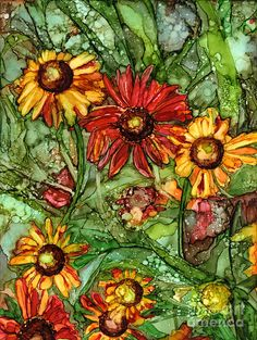 Autumn Color Painting by Vicki Baun Barry