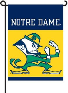 Notre Dame 2Sided Garden Flag >>> You can find more details by visiting the image link. (Note:Amazon affiliate link)