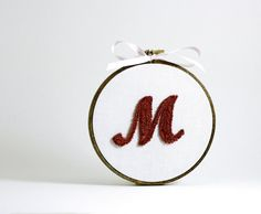 New Baby Personalized Initial Custom Monogram by HarpandThistle