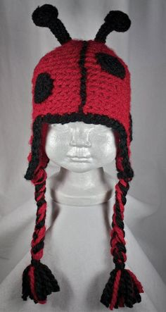 Lovely Ladybug HatNewborn to Adult by robynperlmandesigns on Etsy, $40.00