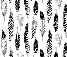 Feathers fabric by cherii for sale on Spoonflower - custom fabric, wallpaper and wall decals