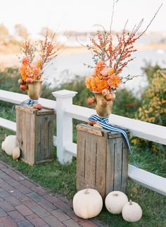 #FallWedding Decor | Cape Cod Wedding |   Photography: Stacey Hedman Photography |  Planning, Styling + Floral Design: lovely little details