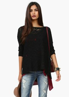 Black Knit Tunic shirt with levi's