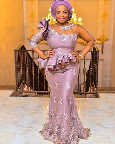 Arabic Style Mermaid Evening Dresses 2019 Modest Long Sleeves Applique Lace Beading Nigerian African Prom Dresses Long Floor Length UK 2020 From GBP African Prom Dresses, Latest African Fashion Dresses, African Dresses For Women, African Print Fashion, African Attire, African Women, Modern African Dresses, African Lace Styles, Lace Dress Styles