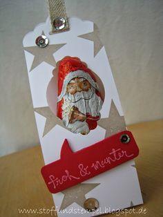 Bevor es zu spät ist, möchte ich euch noch einen kleinen Nikolausgruß schicken.   Diesem Miniatur-Schoko-Nikolaus habe ich auf die Schnell...