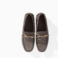 Size 9, please------NUBUCK LEATHER DRIVING MOCASSIN from Zara