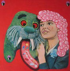 Mike Geary Bad Art, 4 Life, Art Work, Monsters, Vintage Inspired, Retro Vintage, Weird, Illustration Art, Fancy