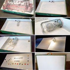 Caixa de llum. Light box.