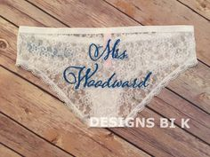 Bridal underwear Wedding panties Bridal panties Personalized underwear Custom underwear Bridal lace panties Custom bridal panties by DesignsBiK