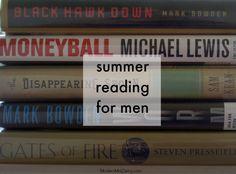 summer reading--for men. #books #reading