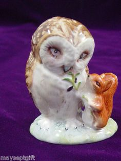 Beswick Beatrix Potter Figure Old Mr Brown Bp3a Perfect !!