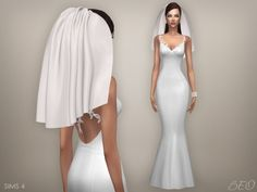 WEDDING VEIL 04 at BEO Creations • Sims 4 Updates