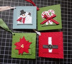 These are just too cute!  Beth's Paper Cuts: Holiday Tags