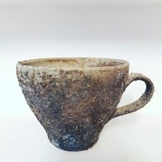 Erik Krouthén  #teacup #woodfired in a #thunnelkiln fell in the firebox and survived. #erikkrouthén #ceramics #handmade #artsandcraft #art
